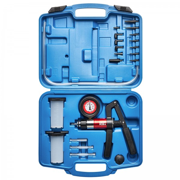 KRAFTPLUS® K.211-7030 Vakuum- Druckpumpen und Bremsenentlüfter-Satz - 22-tlg.