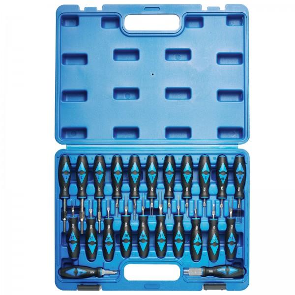 KRAFTPLUS® K.223-6023 ISO Stecker-Entriegelung-Satz Auspinn-Werkzeug KFZ 23-tlg.