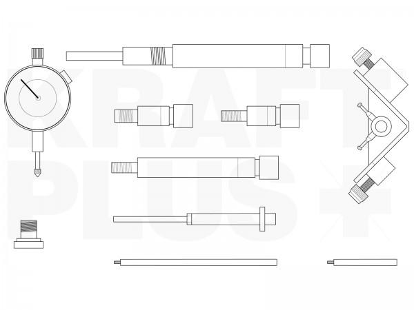 KRAFTPLUS® K.286-0357 Einstell-Werkzeug-Satz für Diesel-Einspritzpumpen 10-tlg.